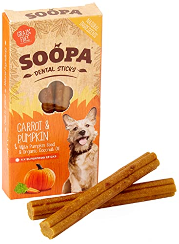 Pumpkin and Carrot Dog Chews from Soopa