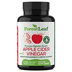 Organic Apple Cider Vinegar Pills – 1200mg, with Cayenne Pepper Powder – All Natural Digestion, Gut and Metabolism Health Supplement for Detoxes and Cleanses – 120 Vegetable Capsules – ForestLeaf