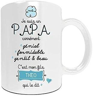 f699a960572d8 Duo de mugs PAPA et MAMAN à personnaliser avec votre prénom - Cadeau  personnalisé fête des