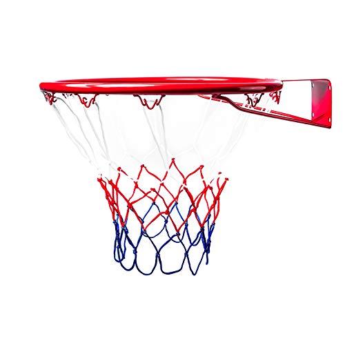 BESTIF Basketballkorb Kinder Indoor und Outdoor | Basketball Korb fürs Zimmer | Ring mit Netz und Befestigungsschrauben | Groß & Mini | Durchmesser 37cm / 45cm (37 cm)