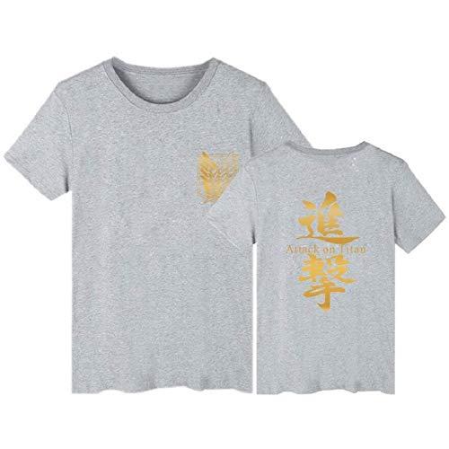 JFLY Attack On Titan Camiseta Anime Camisetas De Talla Grande Camisetas De Verano Camisetas De Manga Corta para Hombres Camiseta De Dibujos Animados Streetwear Ropa para Niños