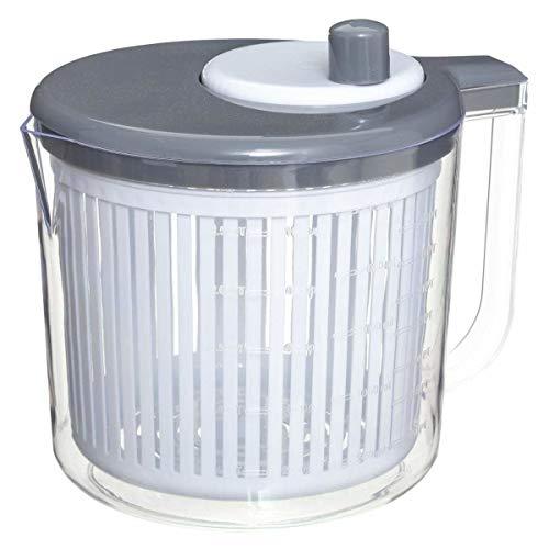 Salatschleuder klein BPA frei mit Deckel Spülmaschinenfest Salad Spinner Mini Wringer 2.5L mit Messbecher