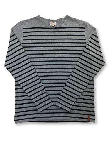 KNOWLEDGE COTTON APPAREL Knitwear Grey And Navy Stripe - XXL