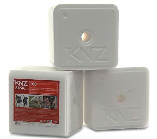 A&G-heute 30kg 3 Lecksteine je 10Kg KNZ Basic100 Minerallecksteine Mineralsteine Salz Rinder Kälber Ziegen Pferde Weiss