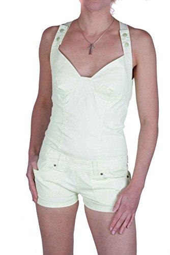 Diesel Jeans Kurzer Overall Shorts Bustier Mynuz (Zitronengelb, XXS)