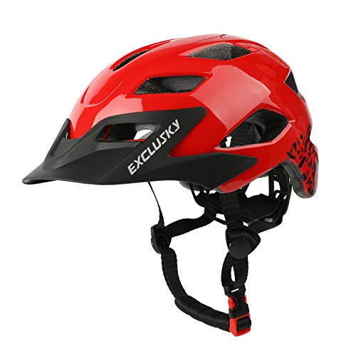 Exclusky Kids Cycle Helmet CE Certified 5-13 Years Child Bike Helmets For Boys Girls Adjustable Lightweight …