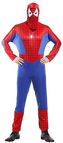 Eén maat - kostuum - vermomming - carnaval - halloween - superheld - spider man - rode kleur - volwassenen - man - jongen spiderman