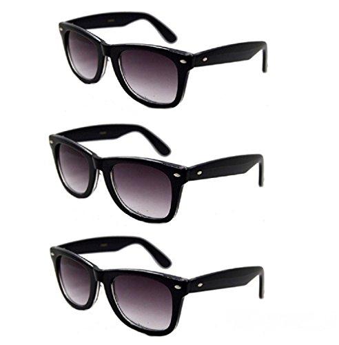 3 Pair Classic Full Reader Sunglasses NOT BiFocals- Black 1.25
