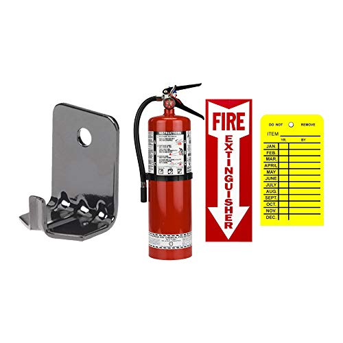 10 Lb Fire Extinguisher ABC Type Dry Chemical Strike First with Wall Hook, Sign and Tag