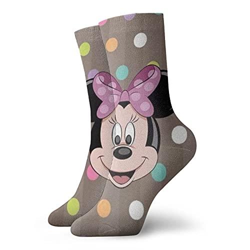 Mickey Mouse Minnie Calcetines para hombres y mujeres cuatro estaciones, cómodos, transpirables, resistentes al desgaste, deportes, ocio y fitness