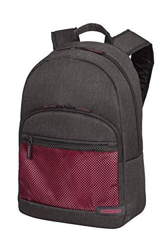 American Tourister Sporty Mesh - 15.6 Pollici Zaino Porta PC, 45 cm, 20.5 L, Grigio (Anthracite/Pink)