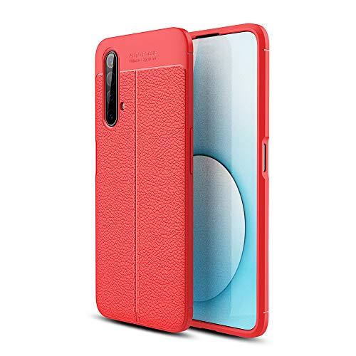 NOKOER Funda para Realme X3 Super Zoom/Realme X50, TPU Delgada Disipacion de Calor Telefono Movil Cover, Material Suave Sensación Cómoda Huella Digital Anti Case - Rojo