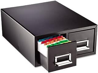 SteelMaster 263F4616DBLA Drawer Card Cabinet Holds 3,000 4 x 6 Cards, 14 1/2 x 16 x 6 1/4
