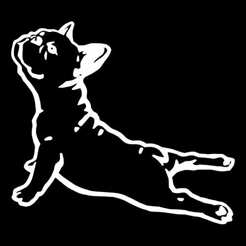 Exquisitas pegatinas de coches Pegatinas de coche de alta calidad con dibujos animados Bulldog perro mascota impermeable coche motocicleta accesorios exteriores calcomanías de PVC 15 cm X 14 c