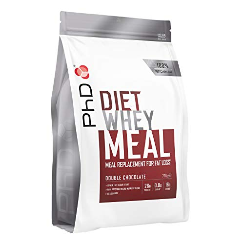 PhD Diet Whey Meal, High protein meal replacement shake (Double Chocolate) 770 g