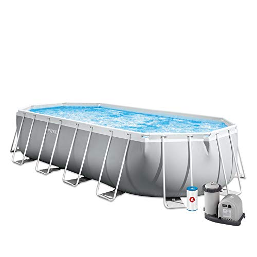 INTEX Kit piscine Prism Frame ovale 6.10 x 3.05 x 1.22 m