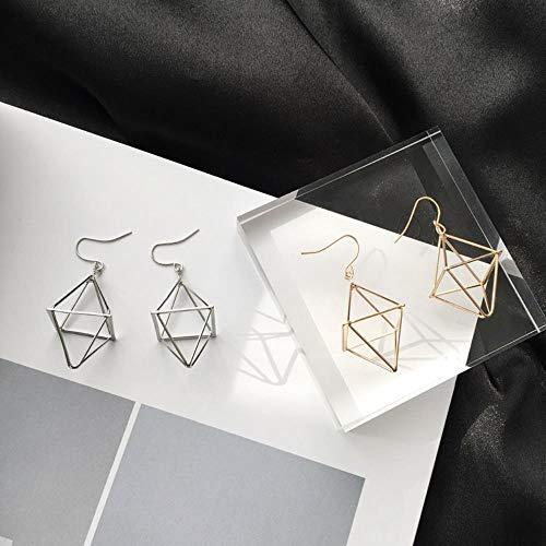 LALY A SHOP Personnalité Géométrique Lanterne Pyramid Trois - Dimensional EarringsBoucle D'oreille Zircon Boucles D'oreilles Grandes Boucles D'oreilles, Noir