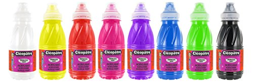 Pintura Acrílica 8 frascos de 250 ml - varios colores