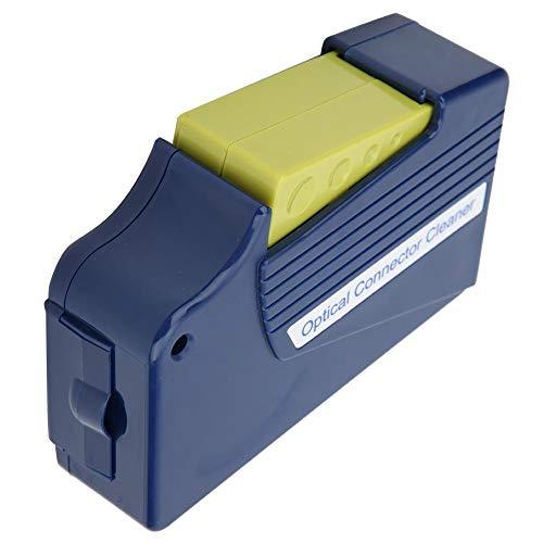 Caja de limpieza de fibra óptica Limpiador de cara final de casete Más de 500 veces Cinta de fibra, adecuado para nivel sin polvo> CLASS10000