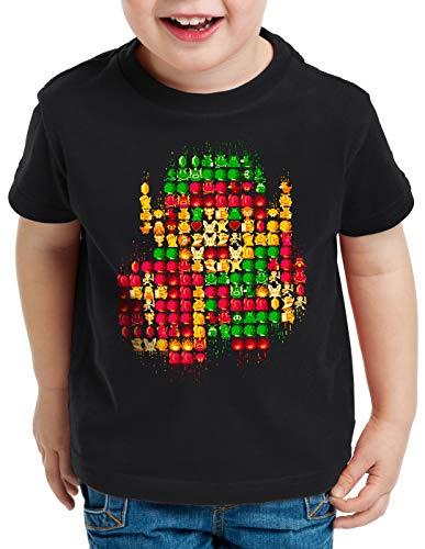 A.N.T. 8-bit Link Camiseta para Niños T-Shirt Retro Gamer Classic, Talla:128