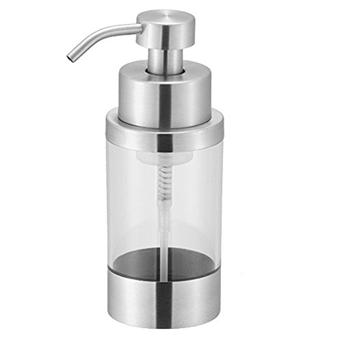TOP-VRA Foaming Soap Dispenser Stainless Steel Lotion Dispenser Soap Pump for Kitchen and Bathroom Countertops, Satin Finish