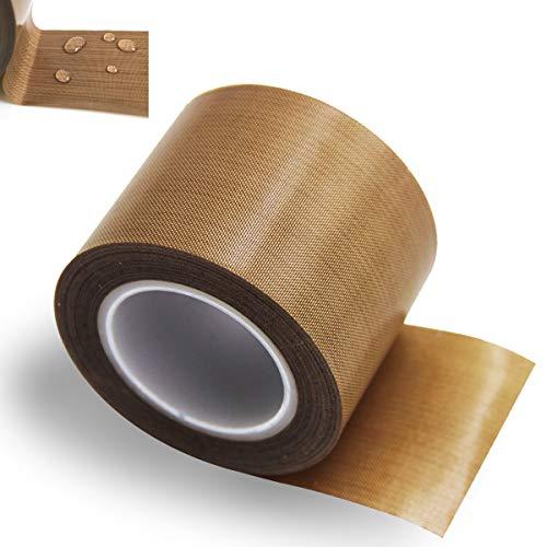 REKALRO Teflonband/PTFE-Klebeband, Hochtemperatur-Klebstoff, 3D-Drucker-Hochtemperaturband, Vakuum-Maschinen-Dichtband, Isolierband für Vakuumiermaschine, Hand- oder Impulsversiegeler (30 mm x 10 m)