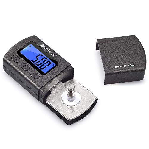 Neoteck Digital Turntable Stylus Force Scale Gauge 0.01g/5.00g Blue LCD Backlight for Tonearm Phono Cartridge
