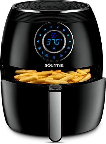 Gourmia GAF615 Digital Free Fry Air Fryer- No Oil Healthy Frying - LCD Display - 8 Presets - 1700 Watt - 6 Qt Basket Pan - Recipe Book Included