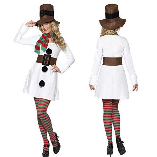 Junta el Traje de muñeco de Nieve - Traje de Cosplay de Las señoras para Hombre del muñeco de Nieve de Navidad de los Pares del muñeco Nieve El Traje del Vestido equipa - para Navidad Performance,A