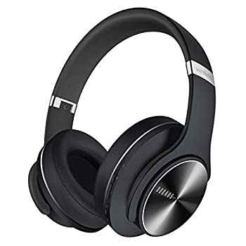 DOQAUS Bluetooth Headphones Over Ear 52 Hours Playtime Wireless Headphones with 3 EQ Modes HiFi Stereo Headphones with Microphone and Soft Protein Earpads for Cellphone/TV/PC/Home Office  Black