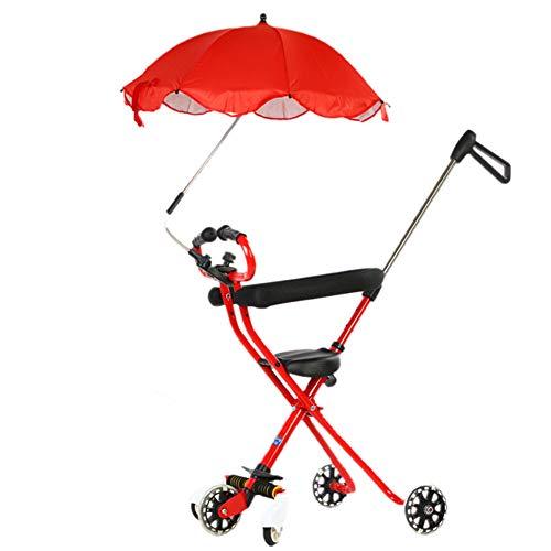 Bébé GUO@ Chariot Mobile à 5 Roues Poussette Pliable Prendre Hors du Panier Artifact pour Enfants, Poussette 2-3-6 Ans