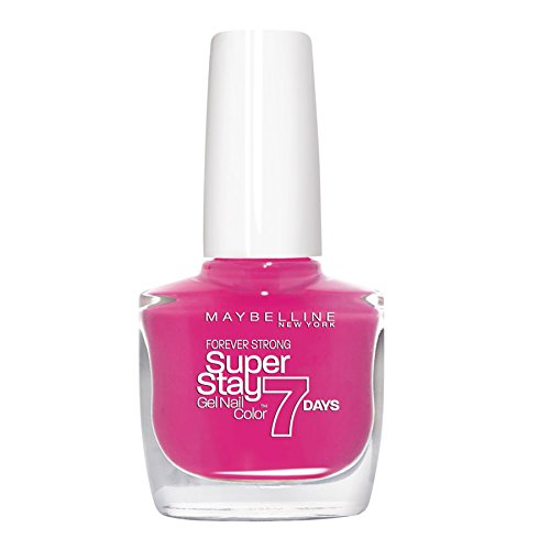 Maybelline New York Make-Up Superstay Nailpolish Forever Strong 7 dagen Finish Gel Nagellak / kleurlak met ultra sterke grip zonder UV-lamp in verzadigd donkerblauw, 1 x 10 ml 10 ml Bubble rubber.