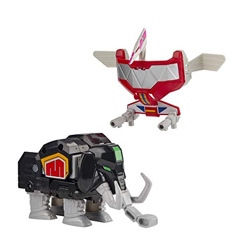 Power Rangers Mighty Morphin Mastodon Dinozord and Pterodactyl Dinozord Toy 2-Pack Action Figures Part of Dino Megazord for Kids Ages 4 and Up