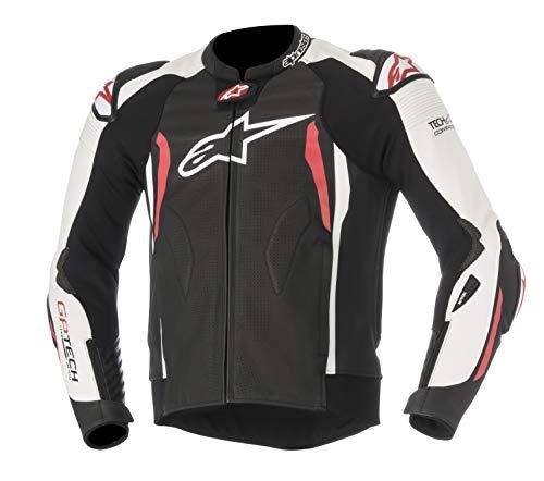 Alpinestars - Chaqueta de moto para moto GP-Tech V2 de piel sintética, color negro, blanco y rojo, 50