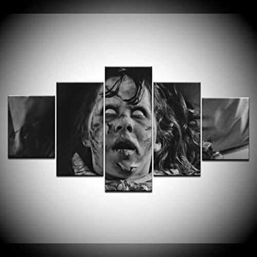 5 Stück Leinwand Malerei Linda Blair Der Exorzist Film Für Moderne Dekorative Schlafzimmer Wohnzimmer Home Wall Art Dekor-With frame