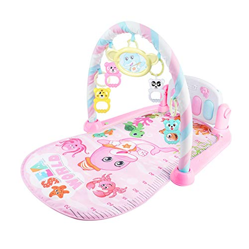 3 en 1 Baby Piano Play Gym Play Mat Música y luces rosa rosa Talla:as picture shown