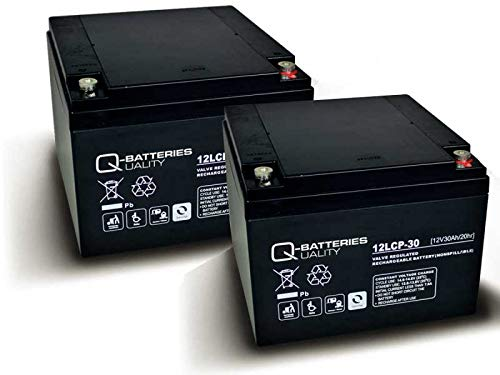 Akku kompatibel Kehrmaschine KM 726 2X 12V 30Ah AGM Blei Battery wie 28Ah VRLA