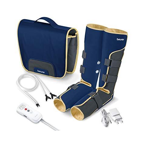 Beurer FM150 Botas Presoterapia por Masaje de uso doméstico, masaje de presión por aire, mejora la circulación sanguínea y pies cansados, previene varices