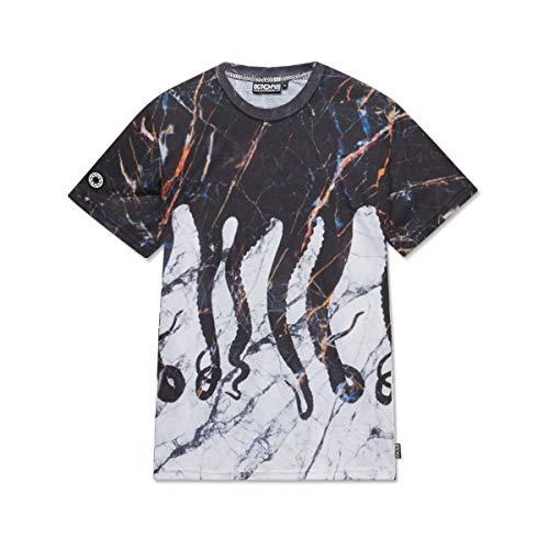 Octopus - T-Shirt Maniche Corte Stampa SUBLIMATICA - Carrara - (L)