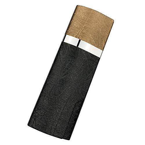プルームテック プラス ケース (ブラック×ゴールド) PloomTech Plus カバー スリム シンプル 無地 コンパクト キャリングケース