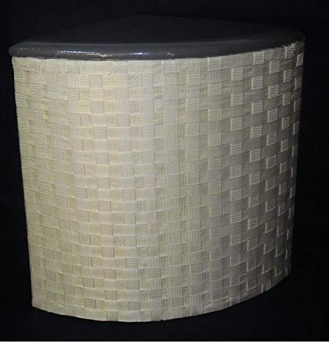 Rattano wasmand klein van nylon hoek kleur wit (kruk)