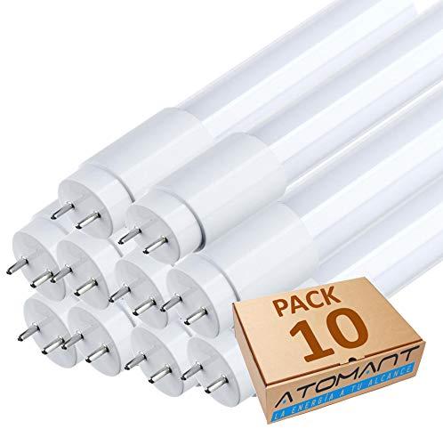 (LA) 10x Tubo de LED 120cm, blanco Neutro (4500K) Standard