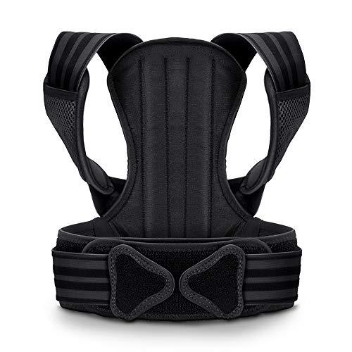 VOKKA Körperverstellgurt für Männer & Frauen - Unterstützung für Wirbelsäule und Rücken - Geeignet bei Nacken, Rücken, atmungsaktiver Geradehalter und Rückenbandage M/L/XL