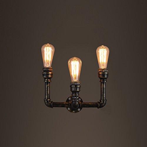 ZWL Lampe murale en fonte d'acier, rétro Style industriel Trois têtes E27 Édifice de bureaux Éclairage Éclairage Éclairage Éclairage Éclairage Éclairage Éclairage Éclairage Éclairage Éclairage Éclairage Éclairage Éclairage Éclairage Éclairage Éclairage Éclairage Éclairage Éclairage mode ( taille : 30*20CM )