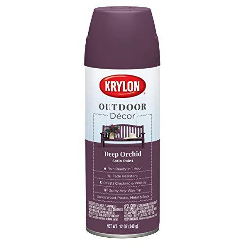 Krylon K09326000 Outdoor Décor Spray Paint, Deep Orchid