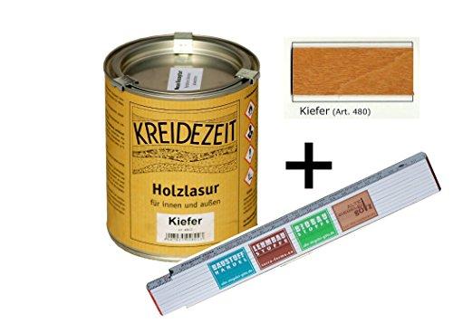 Holzlasur für Innen und außen 0,75 l farbig (Kiefer)