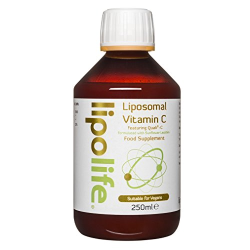Lipolife Gold SF (Soy Free) - formulated with Quali-C and Sunflower Lecithin - Liposomal Vitamin C - 250ml - Lipolife - 1000mg/1g of Vitamin C per 5ml - 50 Servings per Bottle
