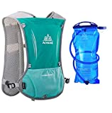 Lovtour Premium Running Race Hydration Vest Pack for Marathon, Cycling, Hiking with Soft Water Bottle As Gift (Mint Green+1.5L Water Bladder)