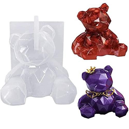 Molde de resina de oso 3D, molde de fundición de epoxi de...