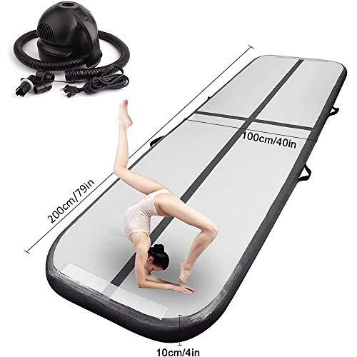 FBSPORT Airtrack Matte Länge 2M Aufblasbar Gymnastik Tumbling Matte Air Track Mat Trainingsmatten Aufblasbare Tumbling Matte